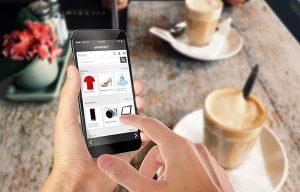 Compra online desde un móvil, venta online
